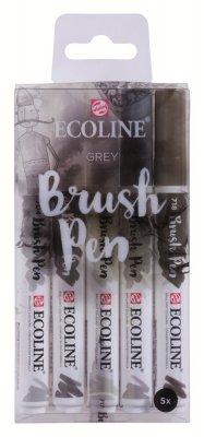 Купить Набор маркеров Ecoline 5шт серые цвета  цены и отзывы.