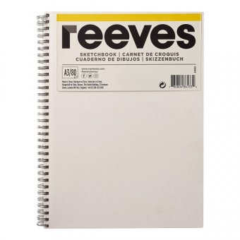 Блокнот Reeves Sketchbook, 80 листов А4, 120 г/м.кв, спираль