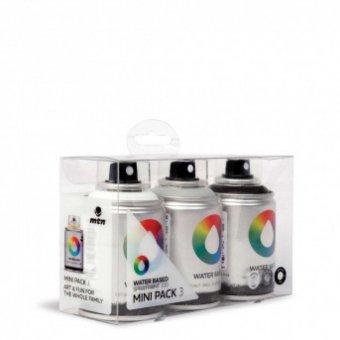Набор аэрозольных красок MTN Water Based 100 мл 3 цвета (серый, черный, белый) EX011W0031M купить доставка по россии. Интернет магазин ARTPINOK.RU.