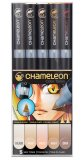 Набор маркеров Chameleon Color Tones Pen Packs Skin Tones 5 шт