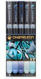 Набор маркеров Chameleon Color Tones Pen Packs Blue Tones 5 штук