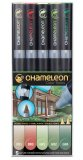 Набор маркеров Chameleon Color Tones Pen Packs Nature Tones 5 штук