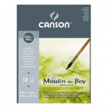 Альбом для акварели Canson Moulin du Roy 300г/м.кв 24x32см 12л Фин
